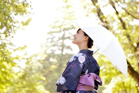 和服と日傘