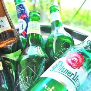 冷たい瓶ビール