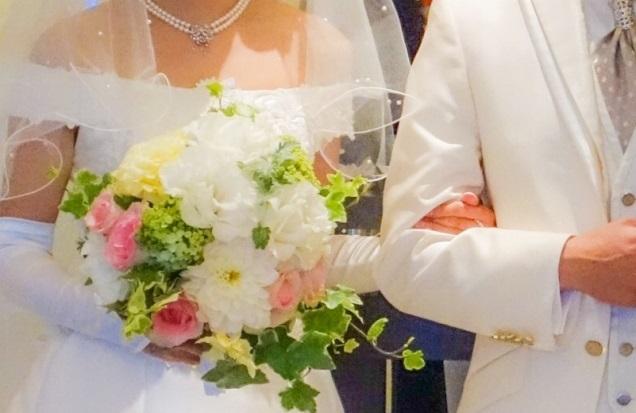結婚式を終えた2人