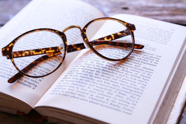 読書とメガネ