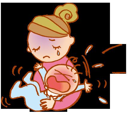泣き止まない赤ちゃんに泣きだしたいママ