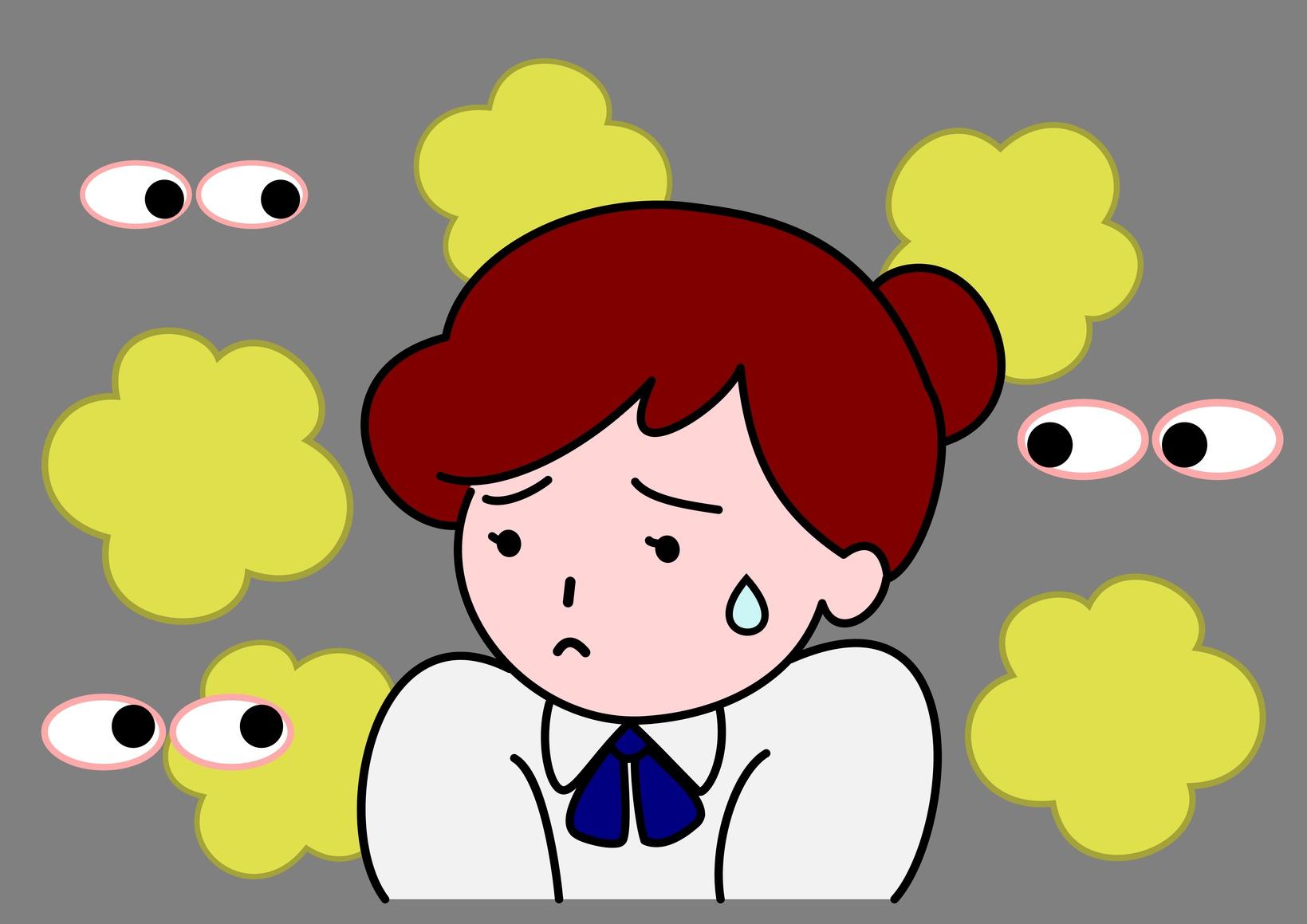 体臭に悩む女性